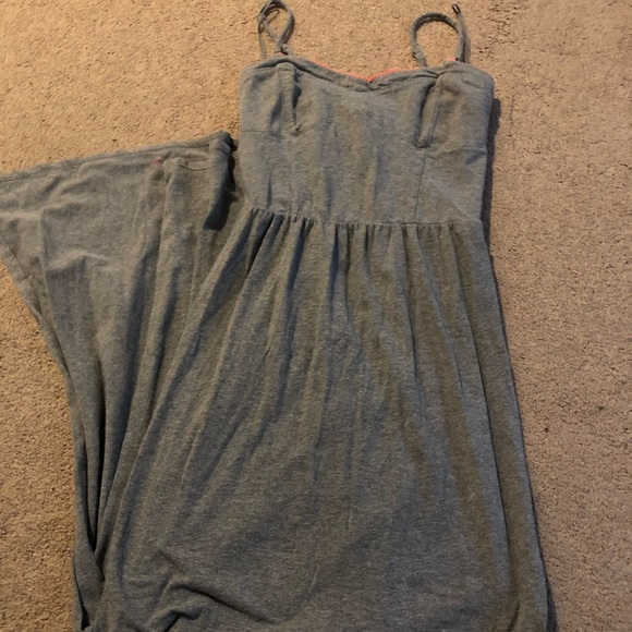 Aeropostale Dresses & Skirts - Gray spaghetti strap maxi dress